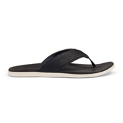 OluKai Holona Mens Flip Flops, Black-Black, medium