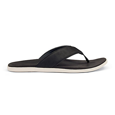 OluKai Holona Mens Flip Flops, Black-Black, viewer