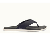 OluKai Holona Mens Flip Flops, Carbon-Dark Shadow, medium