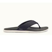 OluKai Holona Mens Flip Flops, Carbon-Dark Shadow, medium