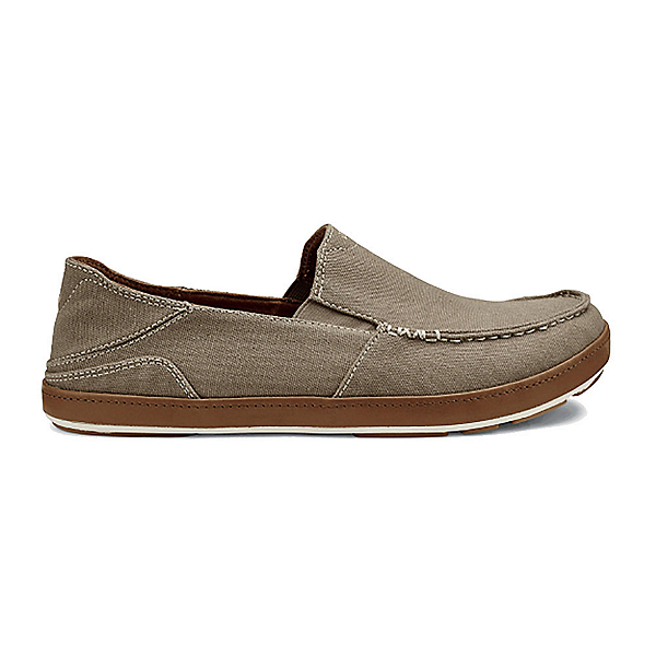 OluKai Puhalu Canvas Mens Shoes, Clay-Toffee, 600