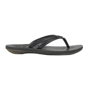 OluKai U'I Womens Flip Flops, Black-Black, medium