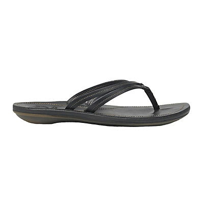 OluKai U'I Womens Flip Flops, Black-Black, viewer