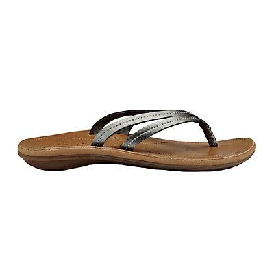 OluKai U'i Womens Flip Flops, Black-Black, viewer