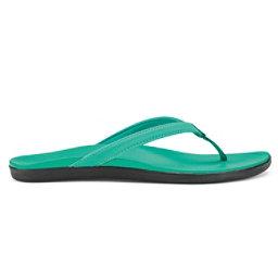 OluKai Hoopio Womens Flip Flops, Swell Green, 256