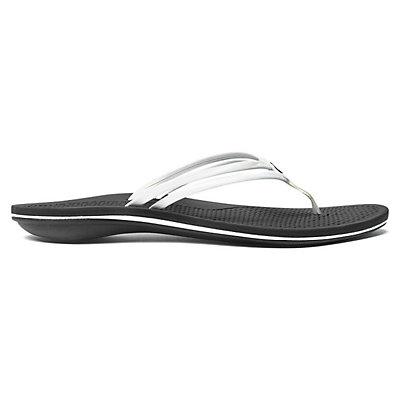 OluKai Unahi Womens Flip Flops, White-Black, viewer