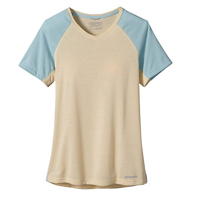 Patagonia Nine Trails Womens T-Shirt, Light Sesame, viewer