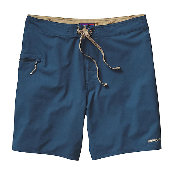 Patagonia Solid Stretch Planing 18in Mens Board Shorts, Glass Blue, 600