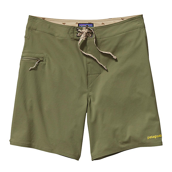 Patagonia Solid Stretch Planing 18in Mens Board Shorts, Spanish Moss, 600