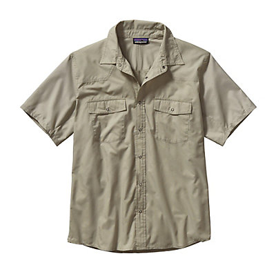 Patagonia Bandito Mens Shirt, Chambray Glass Blue, viewer