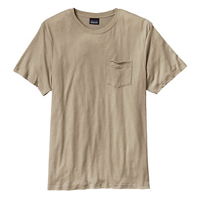 Patagonia Daily Tri-Blend Mens T-Shirt, El Cap Khaki, viewer