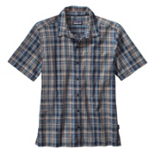 Patagonia Puckerware Mens Shirt, Rose Valley Navy Blue, medium