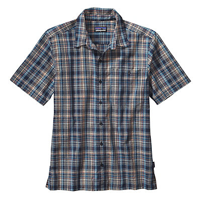 Patagonia Puckerware Mens Shirt, Rose Valley Navy Blue, viewer