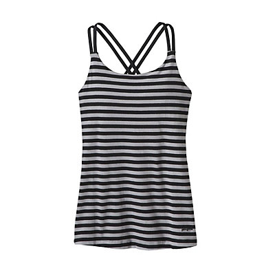 Patagonia Cross Back Womens Tank-Top, Vista Stripe Drifter Grey, viewer