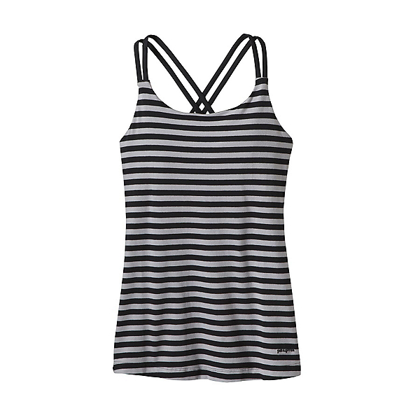 Patagonia Cross Back Womens Tank-Top, Vista Stripe Drifter Grey, 600
