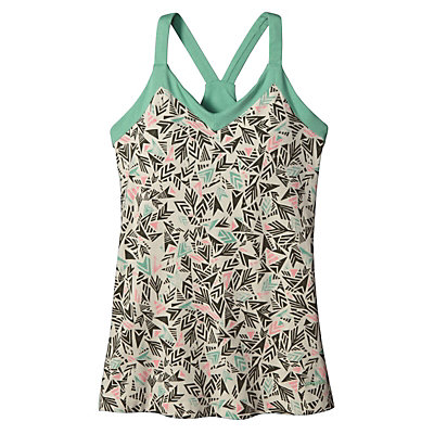 Patagonia Hotline Womens Tank-Top, Quiver & Qull Bleached Stone, viewer