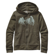 Patagonia Up Here Midweight Full-Zip Womens Hoodie, Kelp Forest, medium