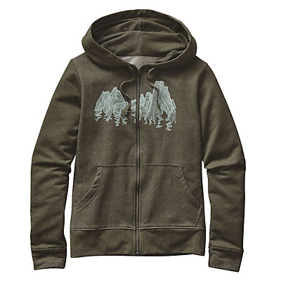 Patagonia Up Here Midweight Full-Zip Womens Hoodie, Kelp Forest, viewer