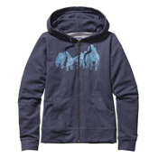 Patagonia Up Here Midweight Full-Zip Womens Hoodie, Navy Blue, medium