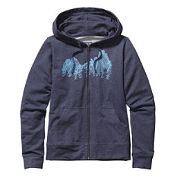 Patagonia Up Here Midweight Full-Zip Womens Hoodie, Navy Blue, 256