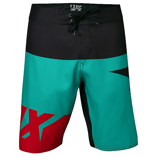 Fox Shiv Mens Board Shorts, Teal, 600