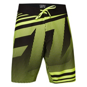 Fox Racing Static Board Shorts, Flo Yellow, medium