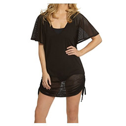Dotti Cool Crochet Shirred Tunic Bathing Suit Cover Up, , 256