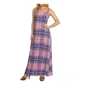 Dotti Batik Summer Maxi Dress Bathing Suit Cover Up, Pinky Lilac-Multi, medium