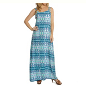 Dotti Batik Summer Maxi Dress Bathing Suit Cover Up, Teal-Lilac, medium
