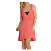 Dotti Ocean Avenue Dress Bathing Suit Cover Up, Bright Coral, medium