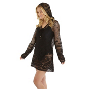 Dotti Riviera Paisley Tunic Hoodie Bathing Suit Cover Up, , medium