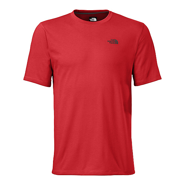 The North Face Men's S/S Crag Crew Mens Shirt (Previous Season), Pompeian Red, 600