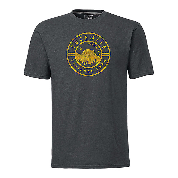 The North Face Men's S/S National Parks Mens T-Shirt, TNF Dark Grey Heather, 600