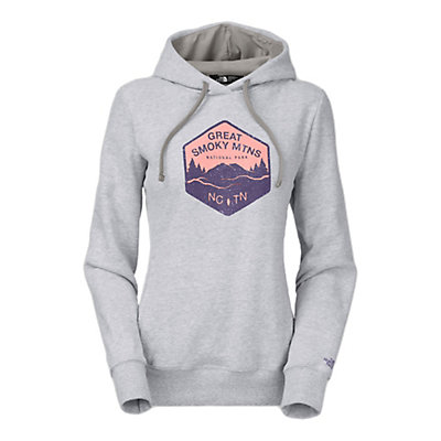 The North Face National Parks Welt Pocket Womens Hoodie, TNF Light Grey Heather, viewer