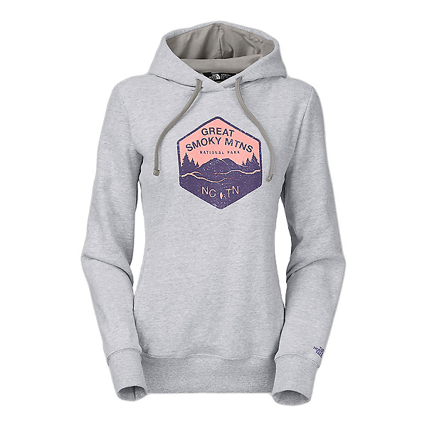 The North Face National Parks Welt Pocket Womens Hoodie, TNF Light Grey Heather, 600