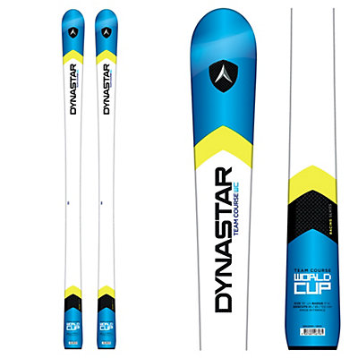 Dynastar Team Course Open Junior Race Skis with Look Nova Team 7 Bindings, White-Blue, viewer