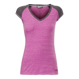 The North Face S/S EZ Raglan Womens T-Shirt, Sweet Violet Melange, 256