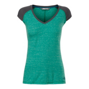 The North Face S/S EZ Raglan Womens T-Shirt, Teal Blue Melange, medium