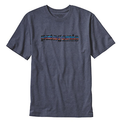 Patagonia 73 Text Logo T-Shirt, Drifter Grey, viewer