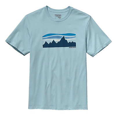 Patagonia Fitz Roy Banner Mens T-Shirt, Drumfire Red, viewer