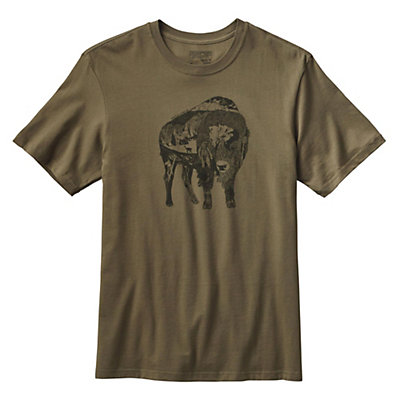 Patagonia Illustrated Buffalo T-Shirt, Fatigue Green, viewer