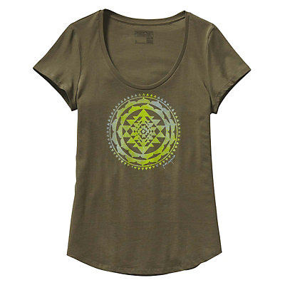 Patagonia Sun Rose Scoop Womens T-Shirt, Fatigue Green, viewer