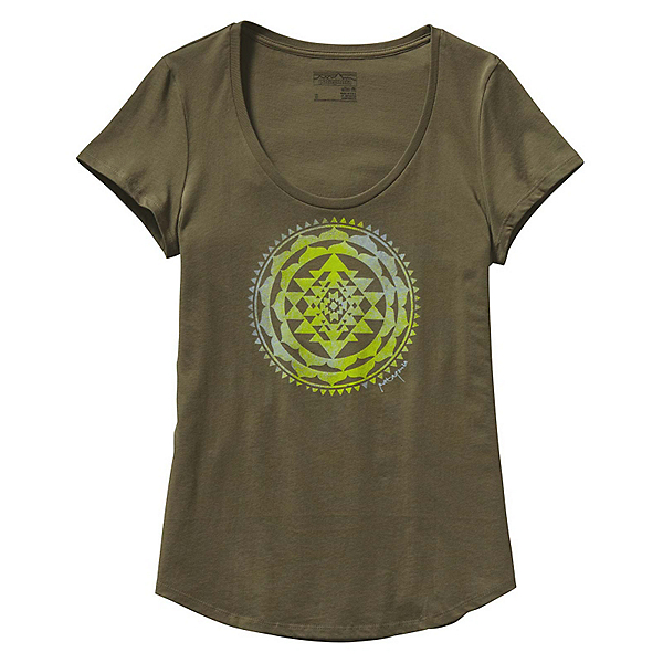 Patagonia Sun Rose Scoop Womens T-Shirt, Fatigue Green, 600