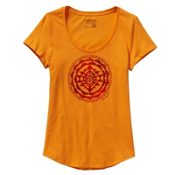 Patagonia Sun Rose Scoop Womens T-Shirt, Sporty Orange, medium