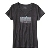 Patagonia Linear Fractures Womens T-Shirt, Black, medium