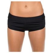 Next Good Karma Banded Shorts Bathing Suit Bottoms, Black, medium