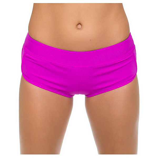 Next Good Karma Banded Shorts Bathing Suit Bottoms, Berry, 600