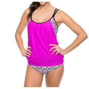 Next Weekend Warrior SC Tankini Bathing Suit Top, Berry, medium