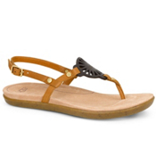 UGG Ayden Womens Flip Flops, Chestnut, medium