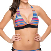Oakley Pacific Stripe Halter Bathing Suit Top, , medium